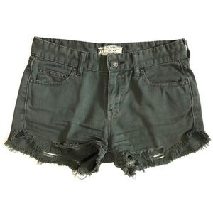 Free People Distressed Cut Off Shorts With Rips